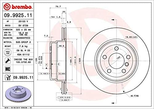 Bremsenreiniger Brembo Bremsbel/äge Bremskl/ötze Bremsenset Bremsenkit Komplettset Hinterachse Original Brembo Bremsscheiben hinten