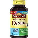 Nature Made Vitamin D3 5000 IU,180 Softgels