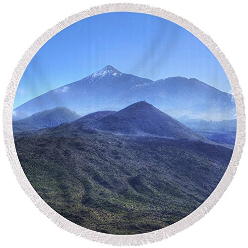 Pixels Round Beach Towel With Tassels featuring ''Tenerife - Mount Teide'' by Joana Kruse by Pixels