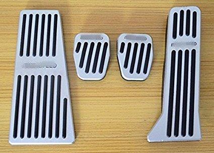WANWU No Drilling Aluminum Car Foot Rest Fuel Brake AT/MT Pedals for Mazda 3 Mazda 6 CX-5 2013 2014 2015(MT 4pc)