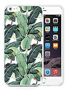 Iphone 6 Plus Cases Custom Design Milly Banana Leaf 02 Cell Phone Tpu Cover Case for Iphone 6 Plus 5.5 Inch White