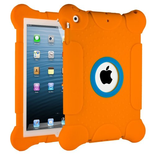 iPad Air Case, HHI iPad Air Kids Fun Play Armor Protective Case - Orange (Package include a HandHelditems Sketch Stylus (Hhi Armor Case)