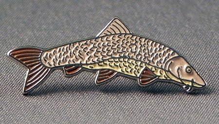b619e3f5734 Metal Enamel Pin Badge Brooch Angling Fish Barbel: Amazon.co.uk ...