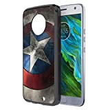 Moto X4 Case, Capsule-Case Hybrid Slim Hard Back Shield Case with Fused TPU Edge Bumper (Black) for Motorola Moto X4 (Moto X 4th Generation) - (Rock Star)