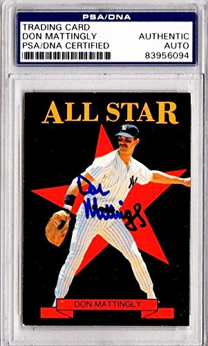 Don Mattingly Autographed Signed New York Yankees Baseball Card