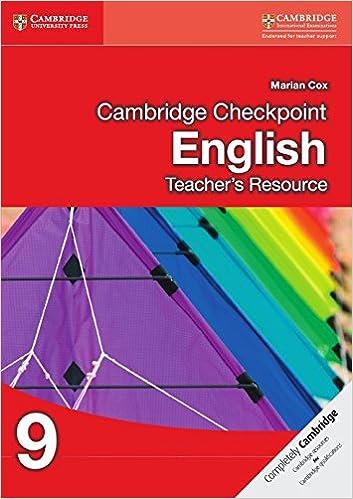 Cambridge Checkpoint English Teacher's Resource CD-ROM 9 Cambridge