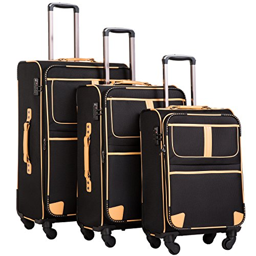 Coolife 3 Piece Suitcase Set