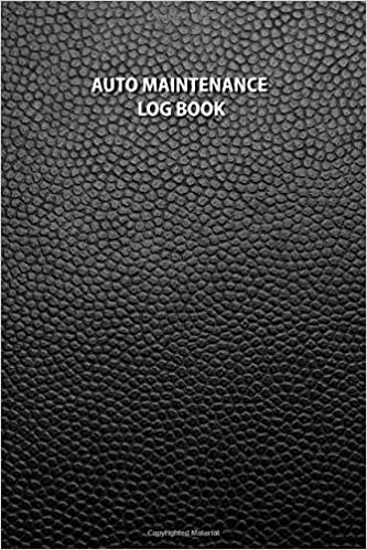 Auto Maintenance Log Book A 100 Page Black Faux Leather Vehicle