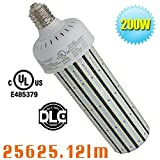 200W LED Corn Cob Replace 1000Watt Metal Halide 5000K Daylight White Omnibearing Gymnasium High Bay Fixture Retrofit Bulb AC100-277V in Garage Airport