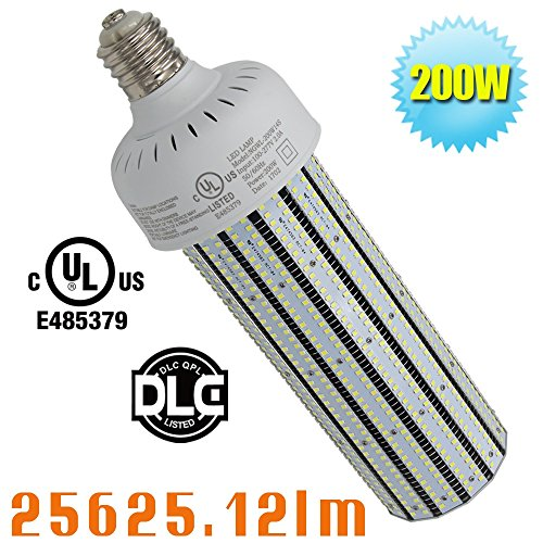 200W LED Corn Cob Replace 1000Watt Metal Halide 5000K Daylight White Omnibearing Gymnasium High Bay Fixture Retrofit Bulb AC100-277V in Garage Airport by Caree-LED