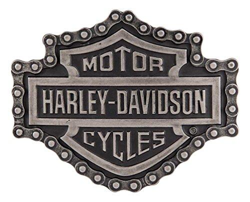 Harley Belt Buckles (Harley-Davidson Men's Unchained Bar & Shield Antique Belt Buckle)