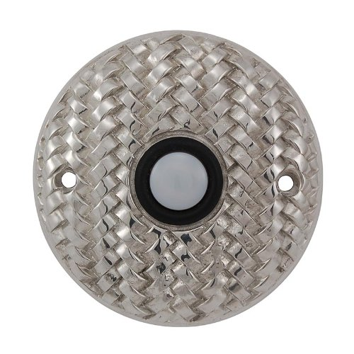 (Vicenza Designs D4010 Cestino Round Style Doorbell, Polished Silver)