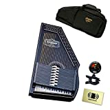 Oscar Schmidt OS73B 1930's Reissue 15 Chord Autoharp Bundle with Gig Bag, Tuner, and Polishing Cloth - Black