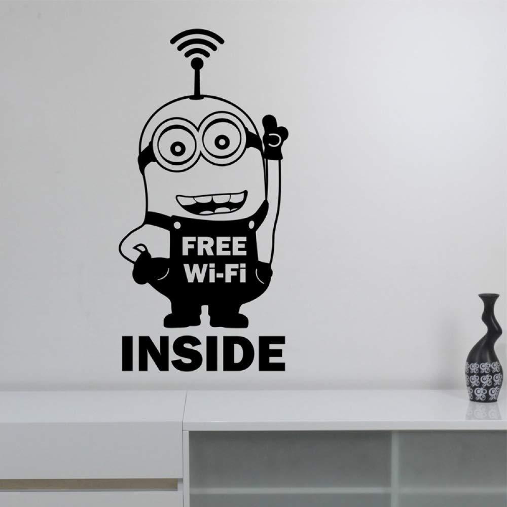 Personaje de Dibujos Animados Letras de Wi-Fi Gratis Citas ...