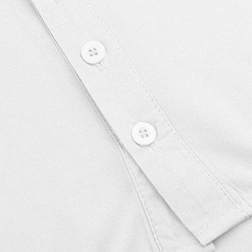 Button Pull Polka Imprimer Longues Dot Chemise V Manches Chemisier Manches Neck Overs Blouse Tops Longues Femmes Plus Size blanc VJGOAL X pq7aAwnv