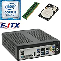 E-ITX ITX350 Asrock H270M-ITX-AC Intel Core i5-7400 (Kaby Lake) Mini-ITX System , 4GB DDR4, 2TB HDD, WiFi, Bluetooth, Pre-Assembled and Tested by E-ITX