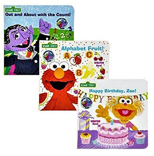 Sesame Street Scratch N Smell Board Books, 3-bk Set (Count Sesame Street)