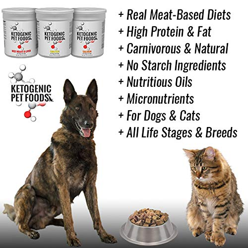 Ketogenic Variety Pack (Beef Heart & Liver, Chicken, and Wild Caught Salmon) - for Dogs and Cats - Three Pack