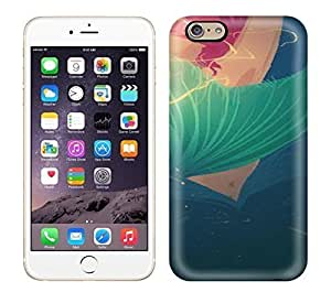 Best Power(Tm) HD Colorful Painted Watercolor Little Mermaid Shadow Hard Phone Case For Iphone 6