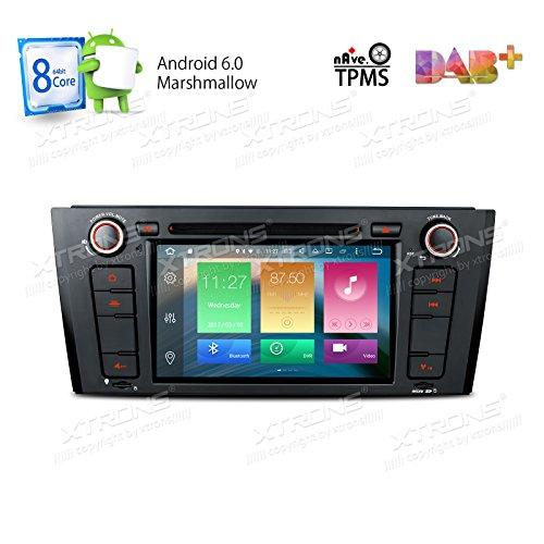 XTRONS Android 6.0 Octa-Core 64Bit 7 Inch Capacitive Touch Screen Car Stereo Radio DVD Player GPS CANbus Screen Mirroring Function OBD2 Tire Pressure Monitoring for BMW 1 Series E81 E82 E88 by XTRONS