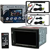 Power Acoustik Car audio Double DIn 2DIN 6.5 Touchscreen DVD MP3 CD stereo Bluetooth + Remote & DCO (Full License Back-up Camera)