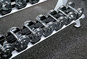 Home Gym Rubber Flooring Thick 10/% Grey 4 x 18 Heavy Duty Rubber Rolls American Floor Mats 3//8in 9mm Protective Exercise Mats