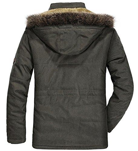 Rompevientos Winter Grueso Al Hooded Coat Verde Chaquetas Libre Caliente Invierno Ocio Ejército Abrigo Warm YYZYY Mens Parka Aire Hombre Militar nz7Zxx