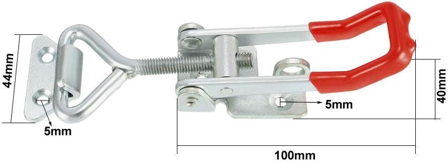 Sourcingmap Pull Loquet r/églable en m/étal Porte Cabinet Box Coque loquets de Loquet /à bascule