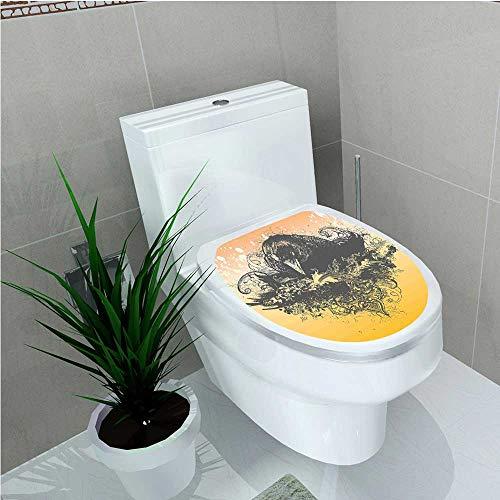 Toilet Sticker Halloween Theme Vector Illustration of a