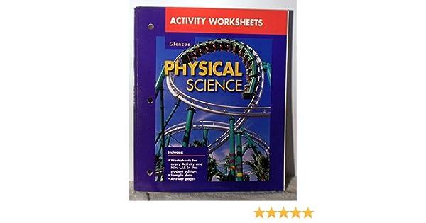 Activity Worksheets: Glencoe Physical Science: GLENCOE/McGRAW-HILL ...