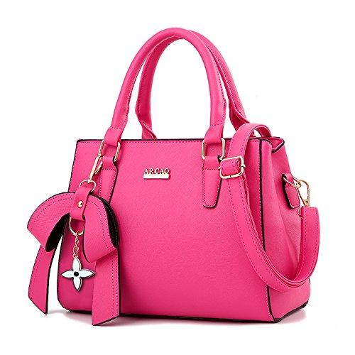 main messenger Sacs pu bandoulière sac à femme Magenta Top cuir sacs féminin épaule Sac porté à MINICE qngwRtS1