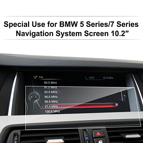 BMW 5 Series / 7 Series 10.2-Inch RECTANGLE Car Navigation Screen Protector,LFOTPP Clear Tempered Glass Infotainment Center Touch Screen Protector Anti Scratch High Clarity