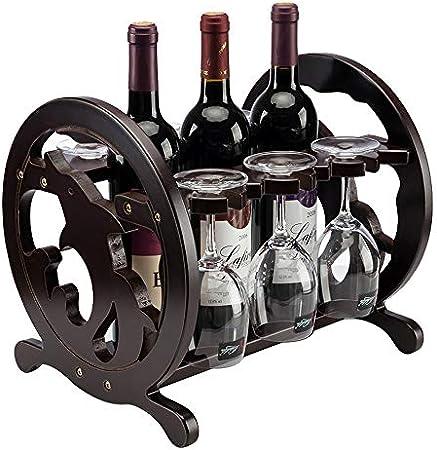 MKJYDM Dolphin decoración vinoteca de Madera Gran Capacidad Simple Estante del Vino 33 X 27X 28CM estantería de Vino