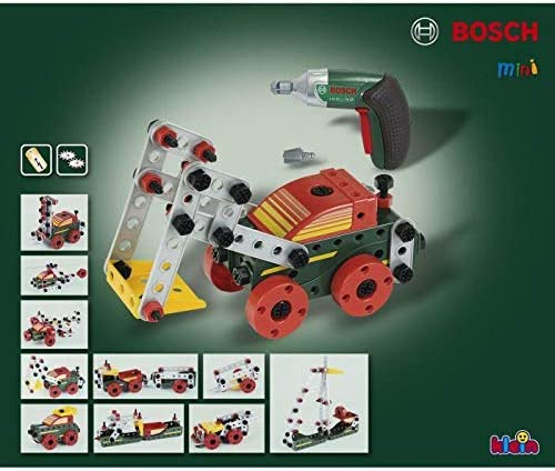 Theo Klein 8497 Set de construcción Multi-Tech con Ixolino Bosch, 107 piezas, Ixolino a pilas con luz y sonido, Medidas: 32 cm x 27 cm x 9.5 cm, Juguete para niños a partir de 3 años