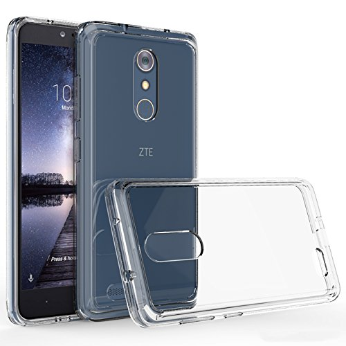 Eforcity Clear Crystal Phone Case - ZTE ZMAX Pro Case, ZTE Z981 Case, Kaesar Crystal Clear Ultra Slim Anti Scratch Bumper Case with Clear Back Hard Panel Protective Case Cover for ZTE ZMAX Pro - Clear