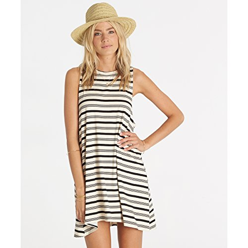 Billabong Junior's by and by Knit Muscle Tee Dress, Black...