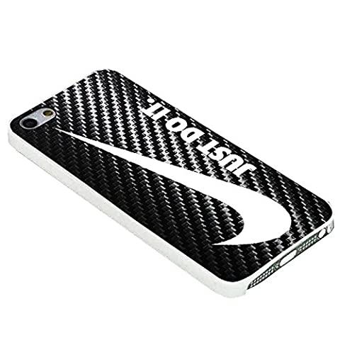 logo nike just do it carbona For iPhone Case (iPhone 6S plus white) (Beatles Phone Case 5c)