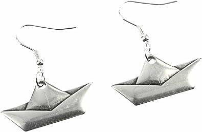 Papier Boucles D Oreilles En Bateau A Voile Miniblings Voile Bateau Argent Origami Amazon Fr Bijoux