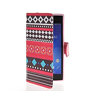 MOONCASE Colorful Patterns Flip Leather Wallet Card Pouch Stand Back Case Cover For Sony Xperia M2