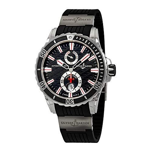 Ulysse Nardin Maxi Marine Diver Black Dial Automatic Men's Rubber Watch 362-10-3/92 (Ulysse Maxi Nardin)