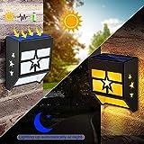 URPOWER Solar Lights Outdoor, Solar Fence Lights