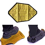 GeneralCare Step in Sock Shoe Cover Reusable, Hand-free Indoor Outdoor Work Boot Covers (PU Coating, Easy to Wipe), Fits Men's Size Up to 12 (1 Pair, Yellow)