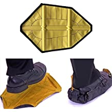 GeneralCare Step In Sock Cover Reusable Hand-Free Boot Shoe Covers - Perfect for Contractor Real Estate Home Worker - Fits Men's Size Up to 13 (1 Pair, Yellow)
