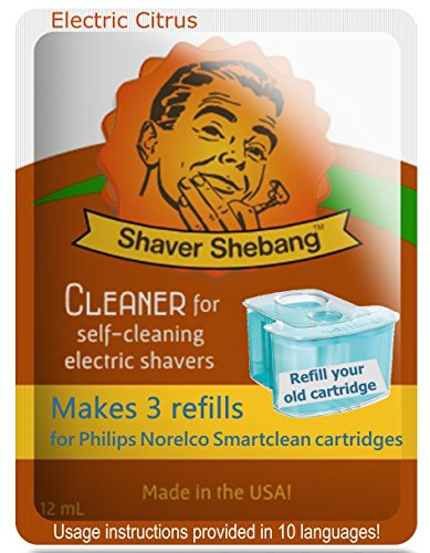Price comparison product image Philips Norelco SmartClean Citrus, 12 cartridge refills=4 pack Shaver Shebang