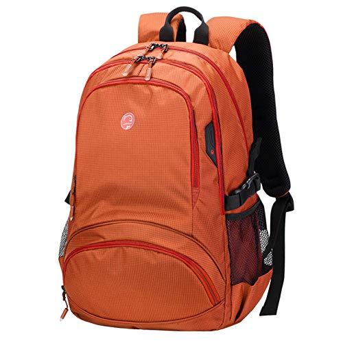 Chico Laptop Cremallera Impermeable Viajes Hombre Gran Estudiantes Con Niñas Hombres Mujeres Ocio Capacidad Jybag Para Mochila Campus Orange Hombro wq8TBX
