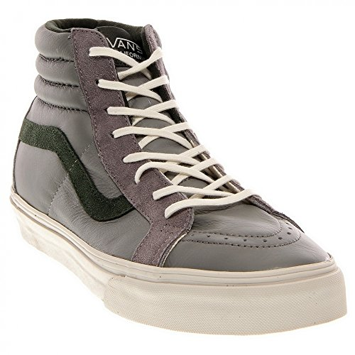 Vans SK8 Hi Reissue CA Leather charcoal grey / deep forest