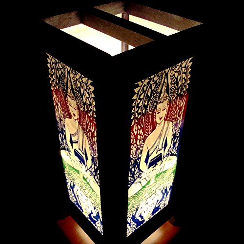 Buy Antique Handcrafted Buddha Lantern For Corporate: Green Buddha Elephant Handmade Asian Oriental Wood Table