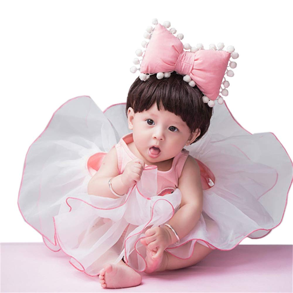 Xiejuanjuan Newborn Baby Photo Props Photography Props Outfits Tutu Dress Flower Headdress Cute Baby Newborn Girl (Color : White, Size : S) by Xiejuanjuan