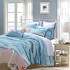 51jo3Sa%2BEqL._SS300_ Coastal Bedding Sets & Beach Bedding Sets