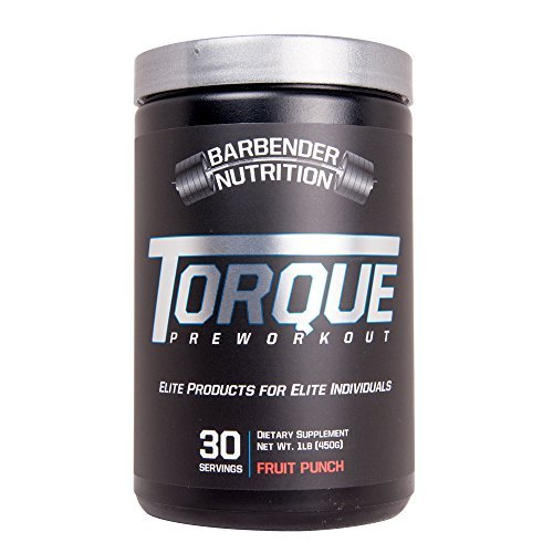 Cheap Barbender Nutrition Torque Preworkout Powder – Best Pre-Workout Energy Supplement for both Men and Women – Increased Energy, Pump, Focus, and Endurance – N.O Booster – Fruit Punch 30 servings